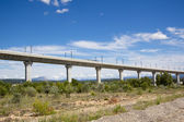 Railroad bridge for TGV in France — Stock Photo