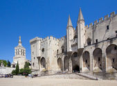 Pope palace in Avignon. Central square, Provence, Cote d'Azur, F — Stock Photo