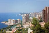 Monaco Montecarlo cityscape, principality aerial view — Stock Photo