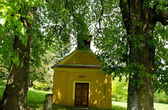 Chapel Under The Big Lime-Trees — Stock Photo