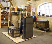 Vintage Baggage Room — Stock Photo