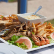 Seafood on a plate — Stock Photo #33236793