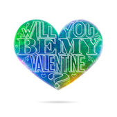 Will you be my Valentine greeting card — Stock Vector