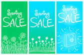 Spring sale banners 001 — Stock Vector