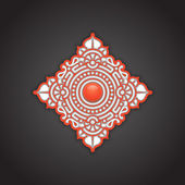 Decorative ethnic ornament background — Stock Vector
