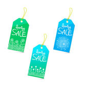 Spring sale tags set — Stock Vector