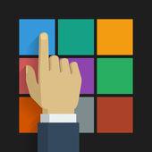 Hand click icon 001 — ストックベクタ