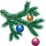 Christmas tree branch — Stock Vector #35258285