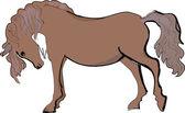 Sketch of horse — Vector de stock