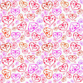Pattern with colorful hearts — Stock Vector