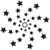 Spiral stars — Stock Vector