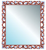 Mirror in frame — Stock Vector