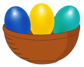 Basket with eggs — Vetorial Stock