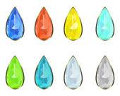 Set gemstones — Stock Vector