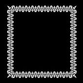 White frame on black — Vector de stock