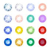 Set gemstones — Vecteur
