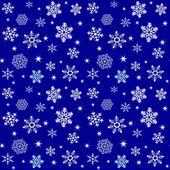 Sömlös snöflingor mönster — Stockvektor