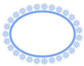 Cadre de flocons de neige — Vecteur