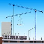 Construction site — Stock Vector