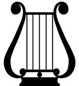 Lyra silhouette — Stock Vector