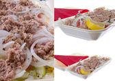 Tuna salad with lemon and onion — Foto de Stock