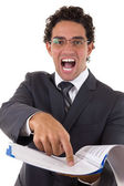 Writing a business plan — Stock Photo