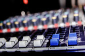 Music mixer with channel — Stock Photo