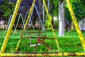 Swings in the park — Stock Photo
