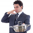Stock Photo: Mholding pot for cooking that really stinks