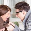 Couple fighting and yelling at each other — Stock Photo #41354119
