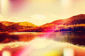 Idyllic lake landscape — Stock Photo