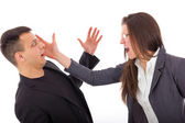 Slap in the face, problems in relationship — Stock Photo