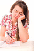 Thoughtful female student — Stock Photo