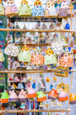 Souvenirs on the streets arranged in row and column — Stock Photo