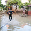 ������, ������: Man saves his dog from a flood