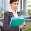 Businesswoman with documents. — Stock Photo