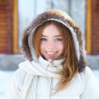 Young beautiful woman. Winter portrait. — Stock Photo #33132143