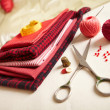 Stock Photo: Materials for needlework.