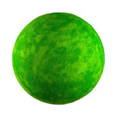Small green toy planet — Stock Photo