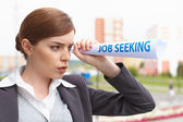 "Businesswoman. ""Job seeking"" concept. — Stock Photo"