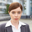 Stock Photo: Businesswoman. Simple portrait.