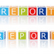 Report Topics With Color Blocks. Report. — Stock Photo