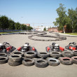 Kart Racing. Cars at pit stop. — Stock Photo #33755467
