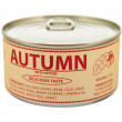 Concept of seasons. Autumn. Tin can. — Stock Photo