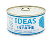 Concept of creativity. Tin can. — Stock Photo