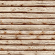 Seamlessly tiling wooden log wall. — Stock Photo