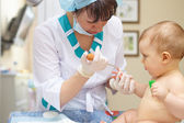 Baby healthcare and treatment. Medical research. Blood tests. — Stock Photo