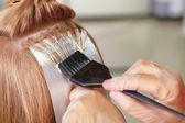 Hair salon. Coloring. — Stock Photo