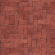 Seamlessly tiling red brick floor texture. — Stock Photo