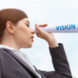 Businesswoman. Vision concept. — Stock Photo